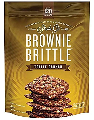 Sheila Gs Toffee Crunch Brownie Brittle, 5 Ounce -- 12 per case. by Brownie Brittle