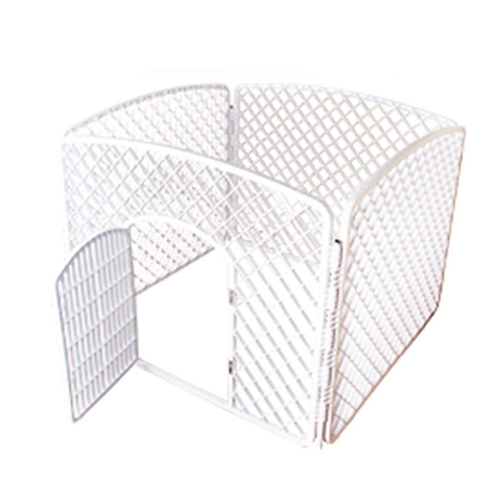Single Door Indoor Dog Fence Pet Fence, Pet Playpen Animal Fence Cage, White