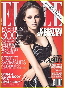 Elle Magazine (June 2012) Kristen Stewart - Snow White and the Huntsman - Red Cover