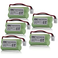 EBL 5 Pack Replacement Rechargeable Battery for BT-266342 Empire CPH-515J Vtech BT1623421 BT-1623421 BT162342 BT-162342 BT166342 BT-166342 BT183342 BT-183342 2.4V 600mAh Cordless Phone Battery