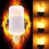 LED Flame Effect Light Bulbs, Calmsen E26 E27 Flickering Fire Light Bulbs with 4 Modes, 5W Flame Bulb for Christmas, Home Decor, Party, Restaurant, Outdoor