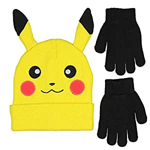 Amazon Com Novelty Pokemon Pikachu Ear Youth Beanie With
