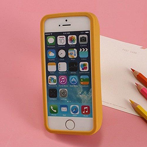 Merssavo 3D Cartoon Hot Dog Wurst Sawaii Food Silikon TPU Phone Case Cover Back für das IPhone 7 Plus