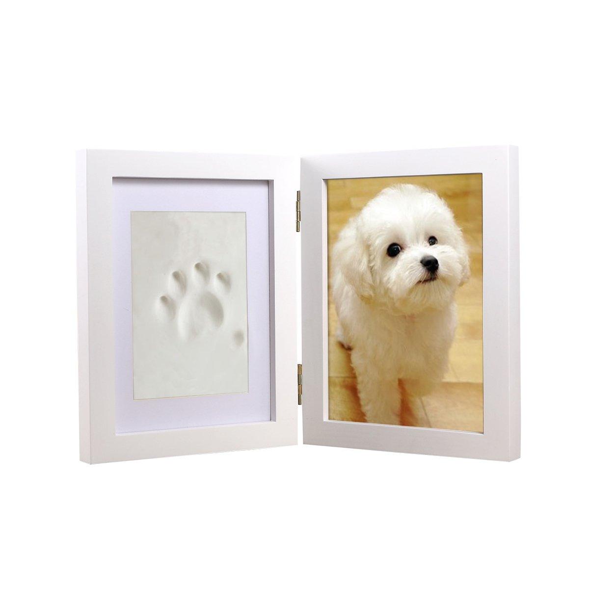 Ueetek Cadre photo Cadre photo Chien Chiot Chat Imprimé pattes pour animal domestique souvenir Memorial Cadre