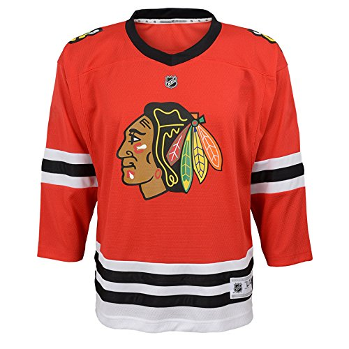 Outerstuff NHL Chicago Blackhawks Youth Boys Replica Home-Team Jersey, Small/Medium, Red
