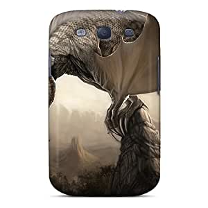 Galaxy S3 Case, Premium Protective Case With Awesome Look - White Dragon