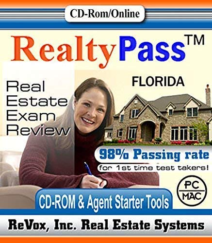 2019 Florida Realty Pass Real Estate Exam Prep Study Guide Questions and Answers Interactive Software