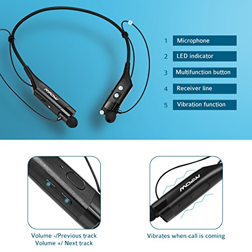 mpow gen 2 bluetooth headphones v4 1 vibrating call alert import it all. Black Bedroom Furniture Sets. Home Design Ideas