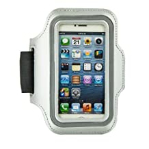 Fulland Reflective SAFETY Strip Sports Gym Armband Case Cover For Apple iPhone 4 4s 5 5s 5C Samsung S3 mini i8190 Samsung S4 mini i9190 (not for S3 S4)-GRAY