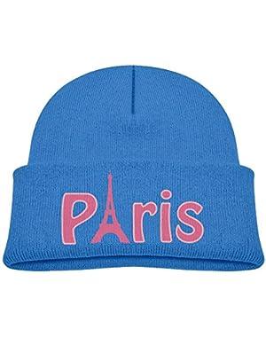 Fashion I Love Paris Printed Infant Baby Winter Hat Beanie