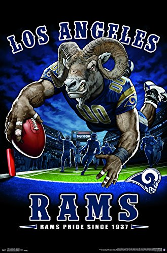 (Trends International Los Angeles Rams - End Zone Premium Wall Poster, 22.375