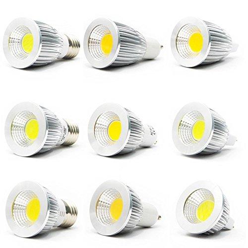 FENSTORE MR16 GU10 E27 E14 COB LED Bulbs, 6W 9W 12W, Daylight White, Spot Light Bulbs