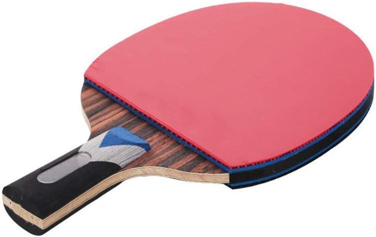 Jilisay Paleta de Ping Pong Mesa de Ping Pong Raqueta ébano intermedio y avanzado Juego de la Raqueta Tiro Recto se Dan la Mano Grips