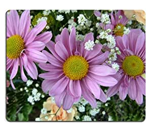 Pink Daisies with Baby's Breath flowers colorful nature beauty Mouse Pads Customized Made to Order Support Ready 9 7/8 Inch (250mm) X 7 7/8 Inch (200mm) X 1/16 Inch (2mm) High Quality Eco Friendly Cloth with Neoprene Rubber Liil Mouse Pad Desktop Mousepad Laptop Mousepads Comfortable Computer Mouse Mat Cute Gaming Mouse_pad