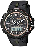 Casio Men's 'Pro Trek' Quartz Stainless Steel and Resin Sport Watch, Color Black (Model: PRW-S6000Y-1CR)