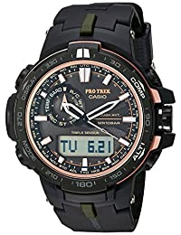 Casio Men's PRW-S6000Y-1CR Pro Trek Analog-Digital Display Quartz Black Watch