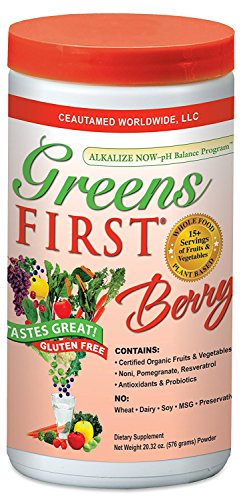 (Greens First - Berry - 60 Servings - Probiotic Blend For Healthy Digestion, Phytonutrient & Antioxidant, Nourish, Rebalance & Rejuvenate - 20.32 Ounces)