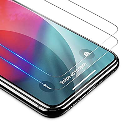OMOTON HD Tempered Glass Screen Protector Compatible with Apple iPhone Xs & iPhone X 5.8 inch [2 Pack]