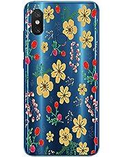 Oihxse Case Transparente Suave TPU Compatible con Blackview A60 Funda [Lindo Caricatura Flor Serie Dibujos] Cristal Protector Carcasa Anti Rasguños Bumper Cover-Florales