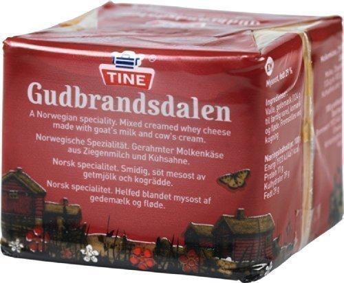 Gudbrandsdalen Kaas 0,2 kg Tine Brunost Gjetost Ricotta Kaas Noorwegen Brunost
