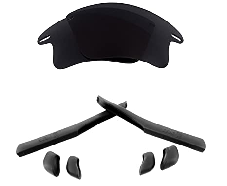 e3f3054829a FAST JACKET XL Lenses Accessories Kit Black Iridium Black by SEEK fits  OAKLEY