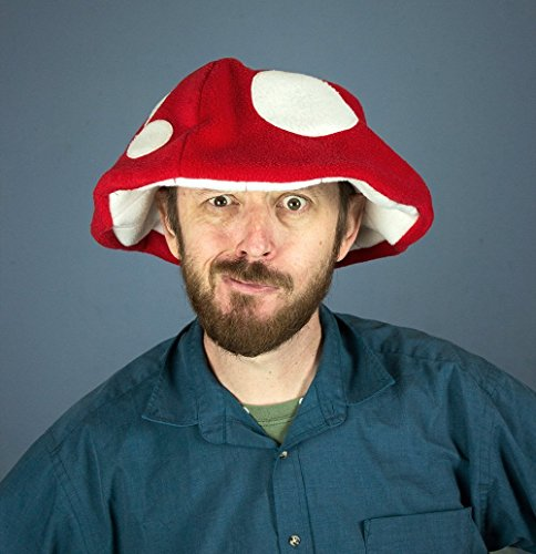 Handmade Fleece Mushroom Hat