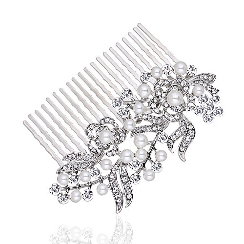 Bridal Short Hair Side Comb for Wedding or Party Hair Clip Women's GIFT Headwear Hairdress minmin