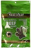 THE REAL MEAT COMPANY 828002 Dog Jerky Beef Treat, 4-Ounce