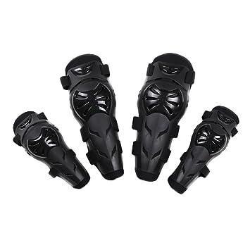 eclear 4 pcs almohadillas codo rodilla espinilleras pantalla ajustable Flexible Adulto Armors muñeca protectora para motocicleta