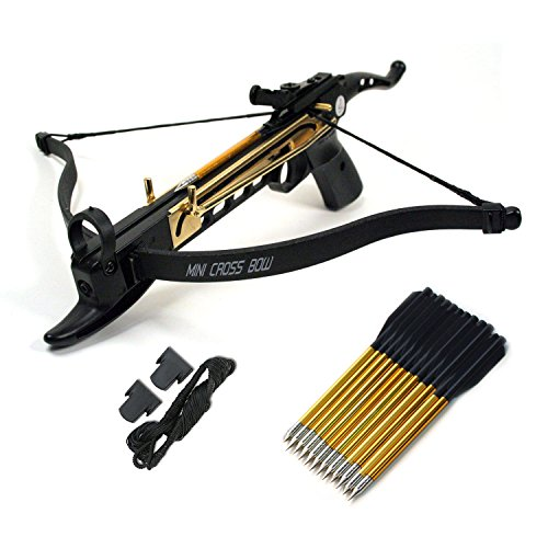 Ace Martial Arts Supply Cobra System Self Cocking Pistol Tactical Crossbow, 80-Pound with 39 arrows, 2 Strings