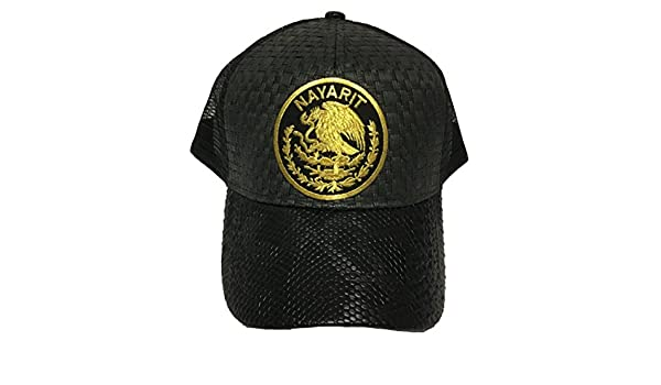 Nayarit Logo Federal hat Gorra De Palma Visera De Piel Mesh Snapback at Amazon Mens Clothing store: