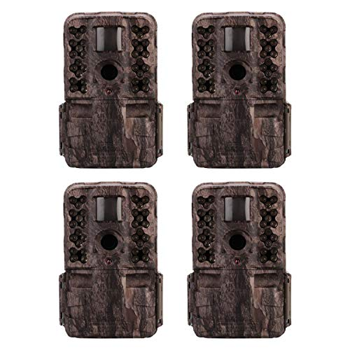 Moultrie M-50i 20MP No Glow Invisible IR Game Trail Camera, Pine Bark (4 Pack)