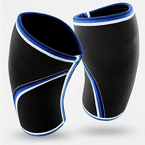 TY BEI Kneepad Kneepad - Pair of Knee Compression Sleeves Neoprene 7mm for Men & Women for Cross Training WOD, Squats, Gym Workout, Powerlifting, Weightlifting @@ (Color : Black) by TY BEI (Image #2)