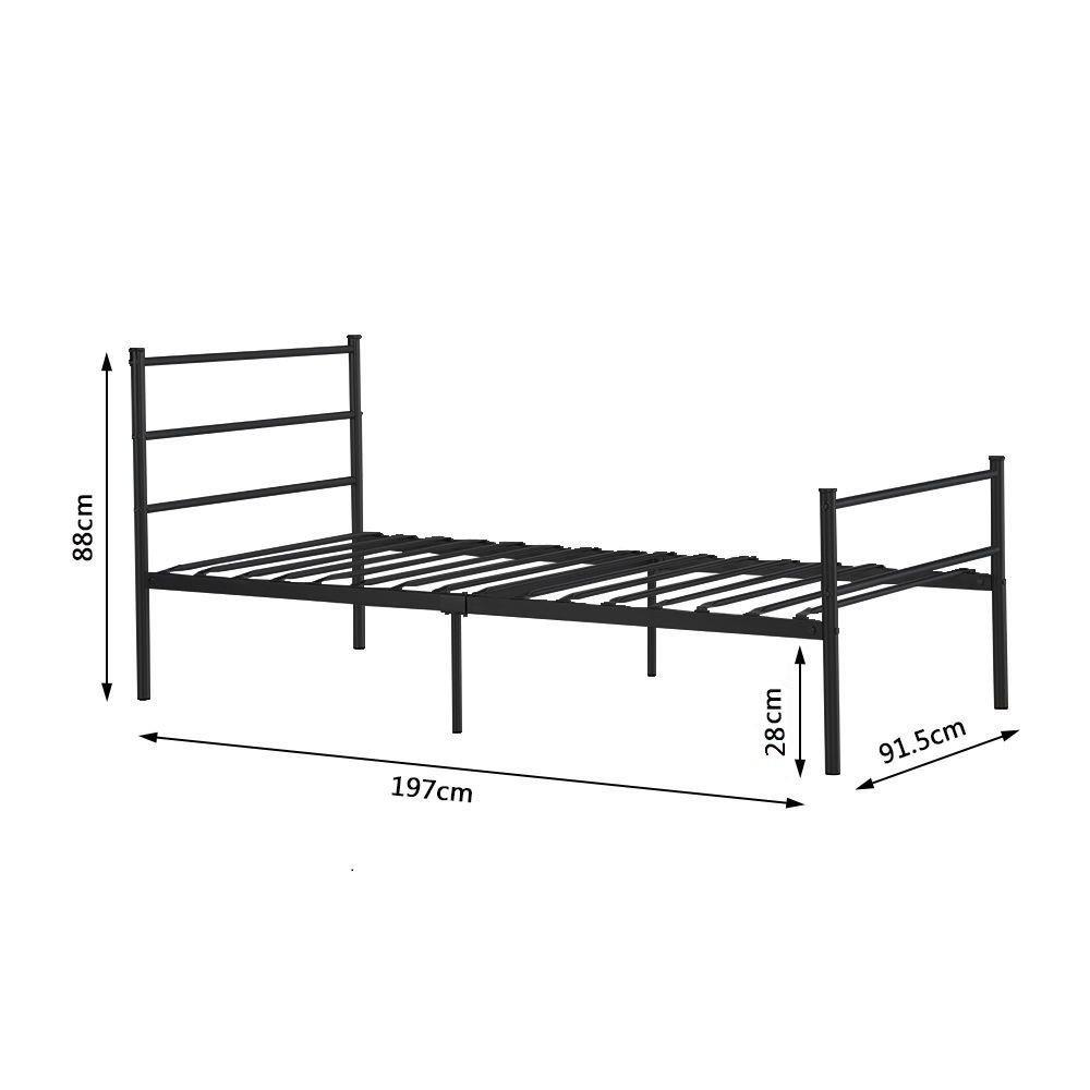 Amazon.de: DORAFAIR Einzelbett Metallbett Metall Rahmen Bett ...