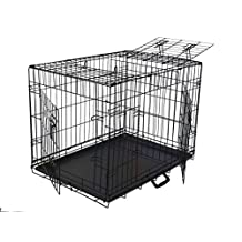Go Pet Club TD-42 42-Inch 3-Door Metal Dog Crate with Divider