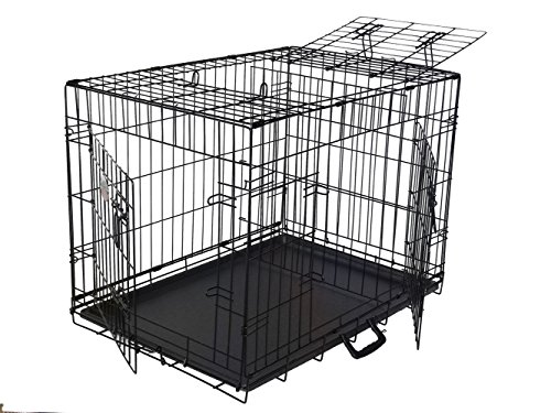 GoPetClub 3-Door Metal Pet Crate, 36-Inch