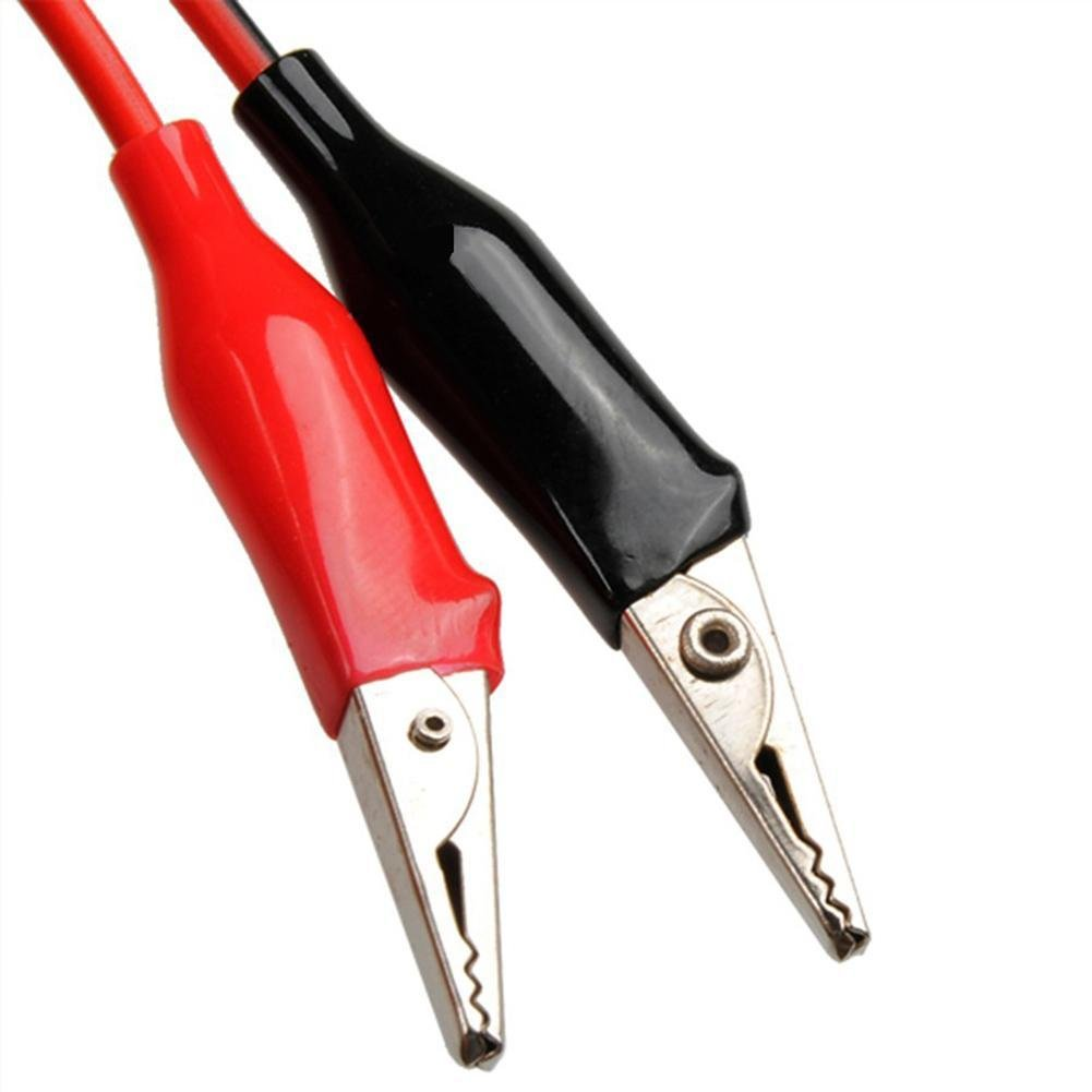 Cool Ring Banana Plug Turn Alligator Clip Power Test Lead Alligator Clip 2 Plug Turn 2 Clip Red Black Line Length 1 Meter