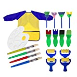 Painting Tools,Kids Sponge Painting Brushes Set Art Craft Brushes Set Toddlers Boys Girls Painting Drawing Tools Early Learning Sponge Brush Child Painting Drawing Tools Painting Foam Sponge Brush