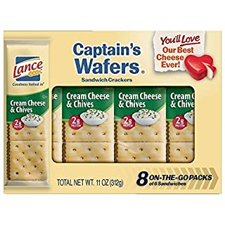 Lance Sandwich Crackers, Cream Cheese and Chive Captain's Wafers, 8 Count