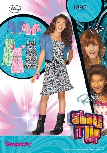 Simplicity 1895 Girls Dresses Sewing Pattern, Size A (7-8-10-12-14-16)
