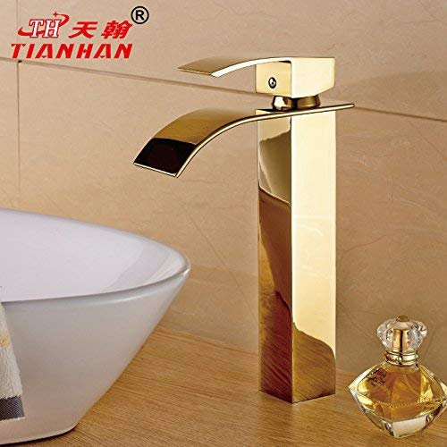C) Tap Oudan Basin Mixer Tap Bathroom Sink Faucet The Brass gold plated brass faucets Quartet-thick add hot and cold plunge wash basin mixer taps, B. (color   C) Tap