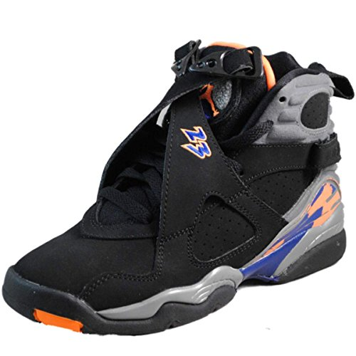 Nike Youth (BOYS) Air Jordan 8 Retro Basketball Shoes Black/Bright Cactus/Cool Grey 305368-043 Size 4.5