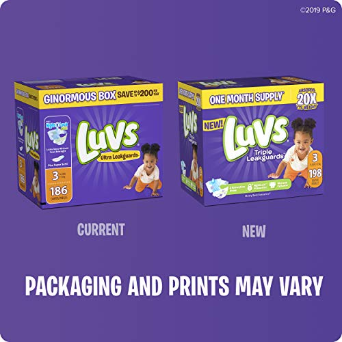 Luvs Luvs Triple leakguards Diapers Size 2 192 Count, 192 Count