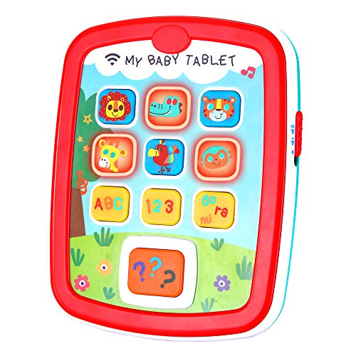 Infant Toys Baby Tablet Toys Learning Educational Activity Center for 6  12  18 Month up Boys and Girls with Music Light ABC Numbers Color Games Baby Toys for -