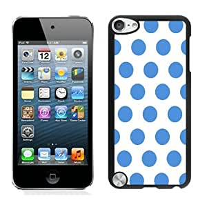 Polka Dot White and Blue iPod Touch 5 Case Black Cover