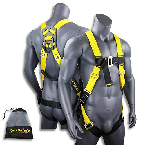 KwikSafety (Charlotte%% NC) TORNADO 1D Fall Protection Full Body Safety Harness | OSHA ANSI Industrial Roofing Tool Personal Protection Equipment | Construction Carpenter Scaffolding Contractor [並行輸入品]  B07FSHGX2S