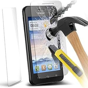 Accessory Master 5055907857641 - Protector de pantalla para Huawei Ascend Y330 (vidrio templado), transparente