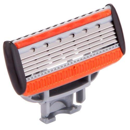 ZipRazor Women's 5-Blade Cartridge Razor System with Trimmer + 4 Extra Cartridges