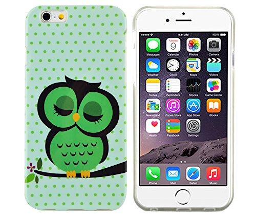 gada - Handyhülle für Apple iPhone 6 Schutzhülle Case Bumper Cover Etui TPU Gel Eule Uhu süß cute