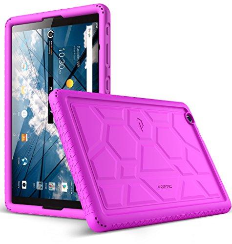 at&T Primetime Tablet Case, Poetic TurtleSkin Series [Corner/Bumper Protection][Grip][Bottom Air Vents] Protective Silicone Case for ZTE ATT Primetime Tablet Purple
